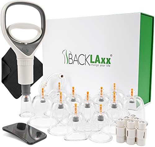 BACKLAxx ® Schröpfgläser mit Vakuumpumpe - Hochwertige medizinische Schröpfen mit Therapiemagneten (12)
