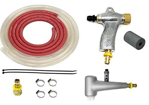 Blastline Suction Blast Cabinet Gun and Metering Valve Kit with 1/4' Orifice (#4) Tungsten Carbide Nozzle