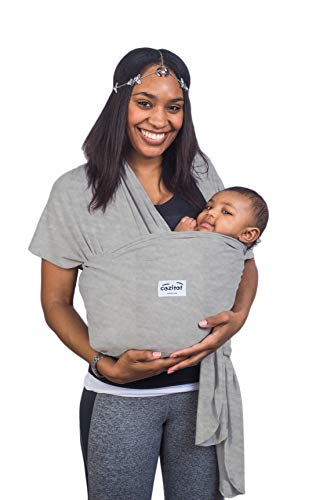 Heather Grey Baby Sling Carrier Wrap by Cozitot | Stretchy All Cloth Baby Carrier | Baby Wrap Carrier | Small to Plus Size Baby Sling | Nursing Cover | Best Baby Shower
