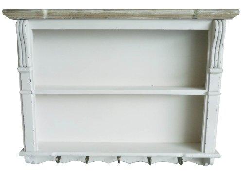 Charles Bentley Weiß Shabby Chic Küche Esszimmer Wandregal Display Einheit Dresser Top