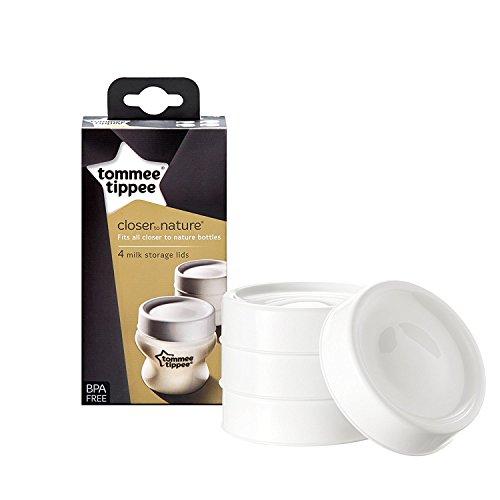 Tommee Tippee Milk Storage coperchi x 4, senza BPA