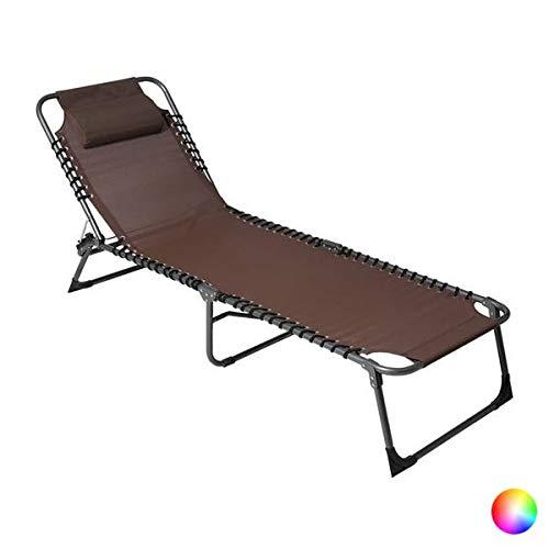 VIP HOGAR Pack 2 Tumbonas/Cama Multiposiciones Reclinables y Plegables para Jardín/Playa con Tejido para Exterior (Negro): Amazon.es: Jardín