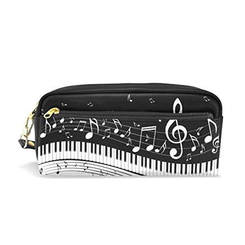 Funda con teclas de piano, para guardar notas musicales, organizador de lápices, bolsa de maquillaje, bolsa de papel de carta, estuche con cremallera para niñas, niños, mujeres, hombres y niños