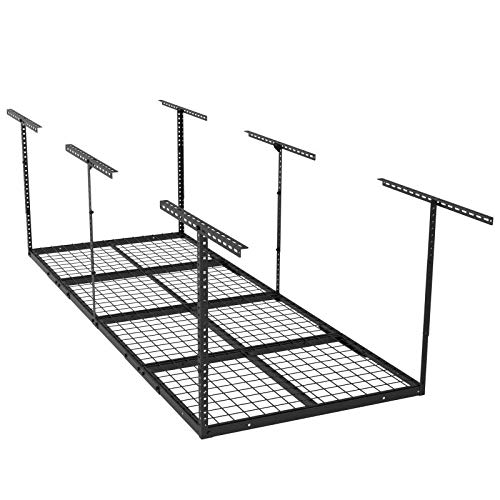 ERGOSOLID SG38 - Soporte de techo, estantería de almacenamiento, 244 x 91 cm, bandeja de techo de 250 kg, color negro