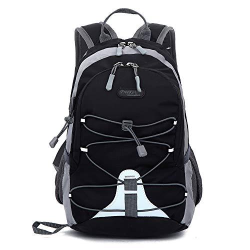 Kempp Sac De Loisirs LéGer pour Enfant Sac à Dos De RandonnéE Alpinisme Voyage en Plein Air ImperméAble Grand Capacité USB Laptop Bag-Black
