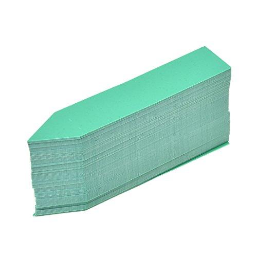 TOOGOO(R) etiquettes en plastique de graines et de plantes marquage de pot marquise de jardin balises 10cm x 2cm (vert)100 Pieces par un paquet