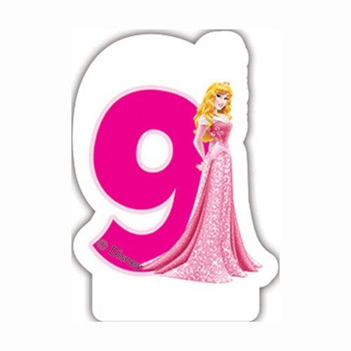 Disney Princesse et Animaux 9Th Bougie d'anniversaire