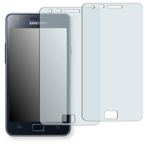 2 x Golebo Crystal Pellicola Protettiva per Samsung I9105 Galaxy S2 Plus - (Trasparente, Montaggio molto facile, Rimovibile senza residui adesivi)