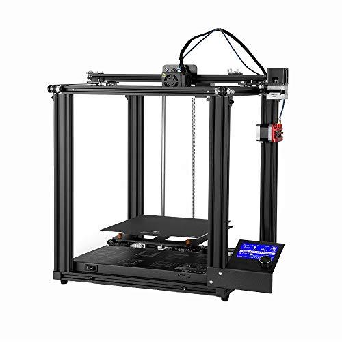 Petit bricolage modèle stéréo Imprimante 3D Tous Structure en métal avec affichage rétroéclairé bleu commerciaux Fournitures industrielles, Noir ( Couleur : Noir , Taille : 56x54x24cm )