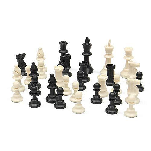 JHSHENGSHI Ajedrez, Juego de Mesa de ajedrez portátil de Viaje Nuevo Tablero de ajedrez de plástico Gambito Torneo Juego de ajedrez Alfombra Enrollable y Bolsa Camping Tra (Juego de ajedrez)