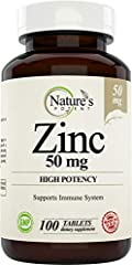 IMMUNE SUPPORT SYSTEM - Zinc has immune-enhancing properties and is also vital for normal growth and development.* Zinc Supplements also plays a role in antioxidant support.* ZINC FOR WOMEN – Zinc is a key nutrient during pregnancy, essential for pro...