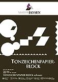 MarpaJansen Tonzeichenpapier-Block - schwarz - ( DIN A4, 20 Bogen, 130 g/m²) - zum Basteln und Gestalten