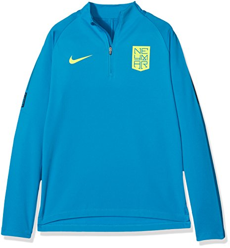 NIKE NYR B NK Dry SQD Dril Camiseta-Línea Neymar, niños, Azul /...