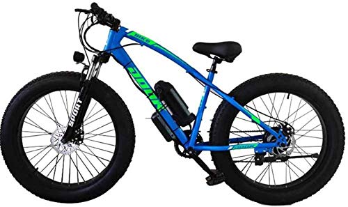 Electric Bikes, Electric Bicycle Lithium Battery Fat Tires Instead of Mountain Bike Adult Wide Tires Boost Cross-Country Snow,E-Bike (Color : Blue)
