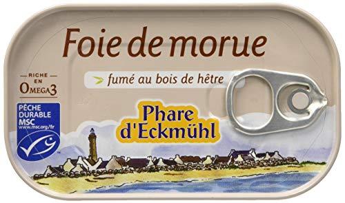 Phare dEckmül Foie de Morue Fumé au Bois de Hêtre Bio 121 g - Lot de 4