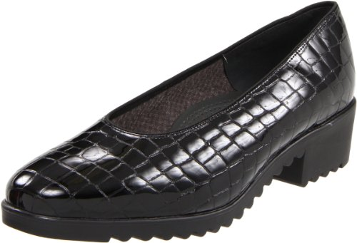 ARA womens Miley loafers shoes, Black Croco Patent Leather, 10.5 US