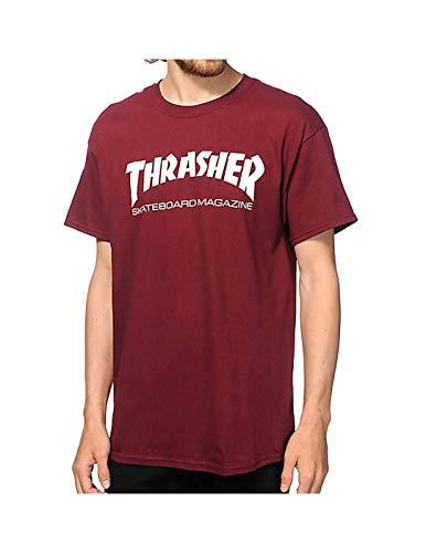 Thrasher - THRASHER T-SHIRT SKATE MAG MAROON - L