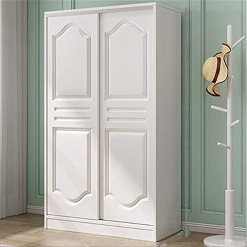 COLiJOL Garderob hem sovrum förvaring skåp skjutdörr ekonomisk lägenhet garderob lämplig för förvaring av kläder, vit, 200 x 50 x 120 cm