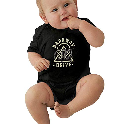 Unisex Baby Kurzarm Body Parkway Drive Unisex Baby Climbing Suit Jersey Bodysuit Short Sleeve T-Shirt Black