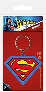 Toys+ Superman Shield Famous logo Rubber Keychain
