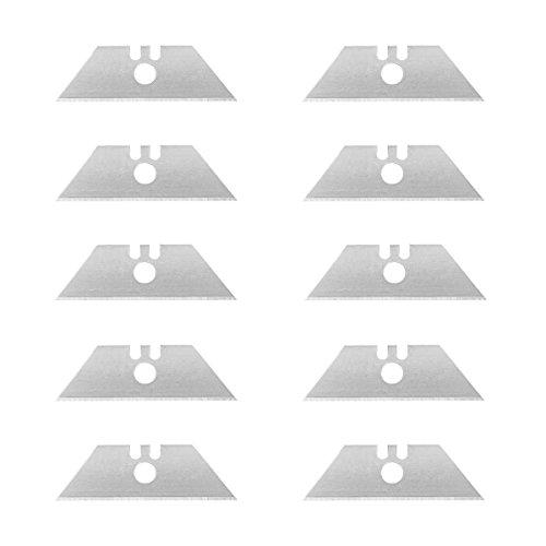 Wedo 7882 Cutter Ersatzklingen Trapez (für Linkshänder, 61 x 19 mm)10 Stück, silber