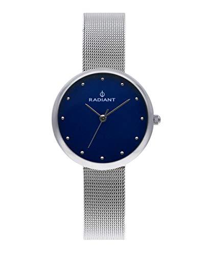Reloj analógico para Mujer de Radiant. Colección Gimli. Reloj Plateado con Malla milanesa y Esfera Azul. 3ATM. 34mm. Referencia RA523602.