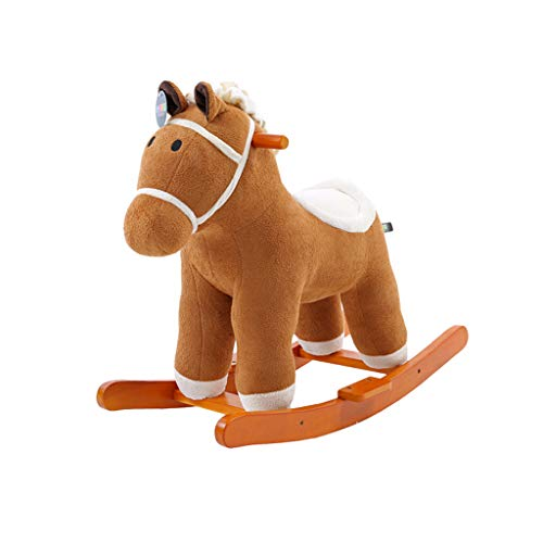 Best Review Of Rocking horse LITING Children Shake Dual-use Rocking Cradles Baby Toys Solid Wood Bab...