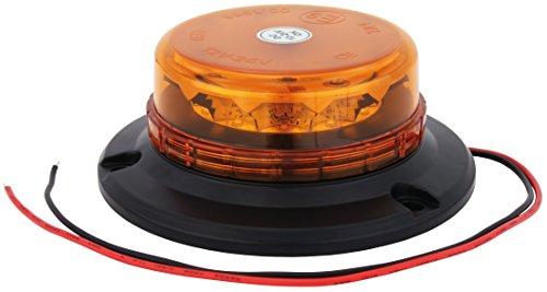 AdLuminis LED Rundumleuchte Orange Mit Aufschraubsockel, 12V und 24V Spannung, Blinkleuchte Warnleuchte Für Straßenverkehr KFZ