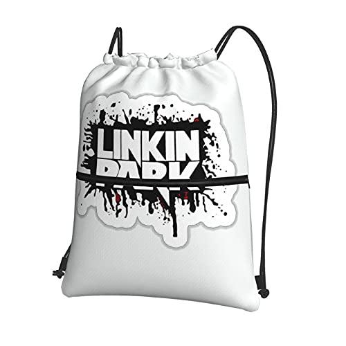 L-in-Ki-N Park String Swim PE Bag Sport Gym Sack bolsa de cordón impermeable con cordón bolsa deportiva con cremallera exterior para deportes, playa, vacaciones, natación, viajes