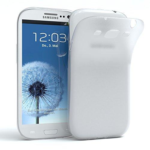 EAZY CASE Hülle kompatibel mit Samsung Galaxy S3 / S3 Neo Schutzhülle Silikon, matt & Ultra dünn, Slimcover, Handyhülle, Hülle/Soft Case, Silikonhülle, Backcover, Transparent