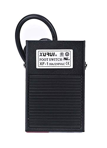 XURUI Momentary Foot Switch Pedal XF-1,Single Pedal, SPDT, 10A 250V, No Plug