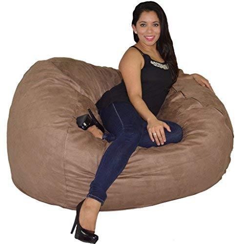 Cozy Sack, LG-CBB-Earth, Large Premium Foam Bean Bag Chair, Earth