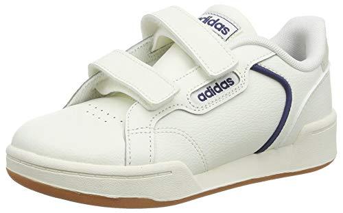 adidas Roguera C, Scarpe da Ginnastica Unisex-Baby, Cloud White/Cloud White/Tech Indigo, 35