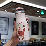 Botella Portátil De Agua Portátil De Taza Portátil 420ml Para La Conservación Del Calor Taza De Acero Inoxidable 420 ml A