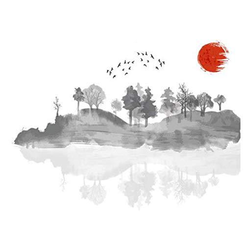 Chinesische Art Tuschemalerei Kunst Wohnzimmer Schlafzimmer Tapete Ölgemälde
