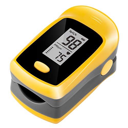 TSAI M50L Fingertip Pulse Oximeter,Portable Digital Reading LED Display, Batteries Included,Yellow