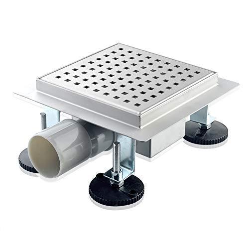 S SIENOC Canale di Doccia canalina di Scarico doccia sistemi drenaggio in acciaio inossidabile per bagno cucina (Penola, 20x20 cm)