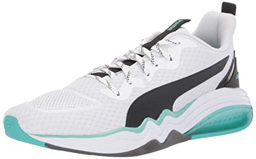 PUMA Lqdcell Tension - Sneaker da uomo, bianco (Puma - Bianco/Blu Turchese), 40 EU