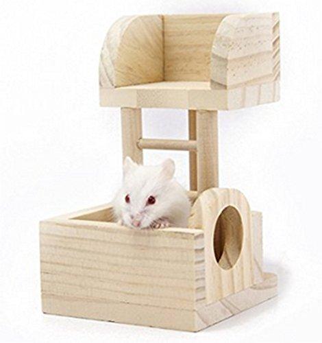 VI. Yo Holz Plattform für Hamster Ratte Hamster Maus Klettergerüst Spielplatz für kleine Tiere