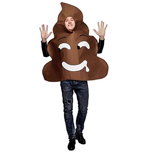 ZAOWEN Halloween Kostüm Erwachsene Männer Poop Kostüm Maskerade Poop Kleidung Cosplay Halloween Party Lustiges Kleid Poop Kostüme Rollenspiel Poop Emoji
