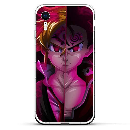 Mosku Ultra Thin Clear Soft Rubber Protect Case Cover for Apple iPhone XR, Seven Deadly-Sins Meliodas 3