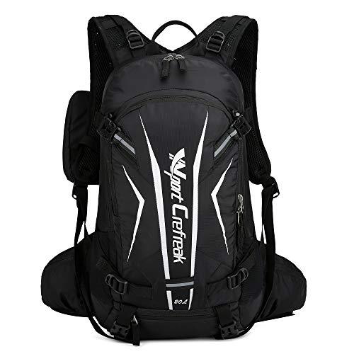 Ynport Crefreak Fahrradrucksack, 20 l, wasserabweisend, für Outdoor, Klettern, Wandern, Reiten., Schwarz , Einheitsgröße