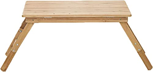 bajo precio del 40% Folding table LVZAIXI 100% bambú bambú bambú portátil portátil Escritorio Altura Ajustable Navegar en Internet Jugar en el sofá Cama 54  34  21 cm  colores increíbles
