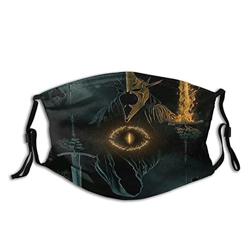 Cagoule avec bordure noire pour adulte Le Seigneur des Anneaux - Protection du visage portable - Bandana - Bord élastique