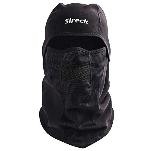Sireck Cold Weather Balaclava, Water Resistant and Windproof Fleece Thermal Ski Mask, Motorcycle Cycling Hunting Neck Warmer Face Mask Winter Gear for Men Women