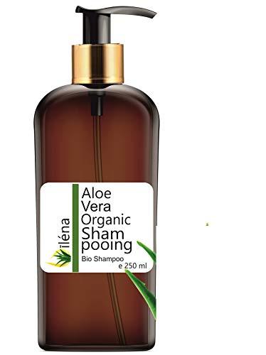 Shampooing Organique à l'Aloe vera, à l'Argan, Kératine et Ceramides végétales - Cheveux abîmés et secs Sans parabens Anti perte de cheveux (250 ml)