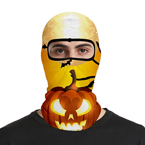 Sinifer Adults Face Protective Bandana Halloween Printed Motorcycle Helmet Lining Reusable Dustproof Mouth Protection(Q)