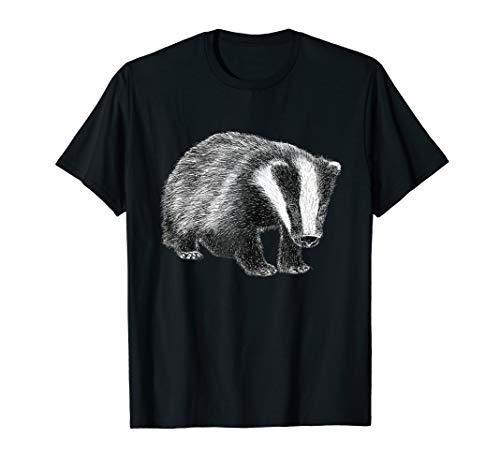 Niedliche Dachs-Wildtier-Zeichnung T-Shirt
