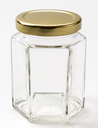 Nutley\'s sechseckiges Einmachglas, 190ml (40Stück)