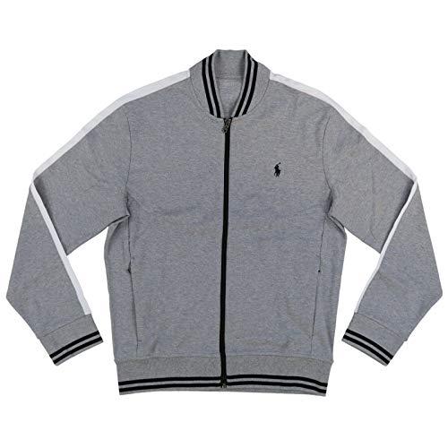 Polo Ralph Lauren Mens Full Zip Track Jacket (X-Large, Gray)
